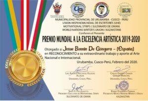Premio Mundial a la Excelencia Artística 2019-2020